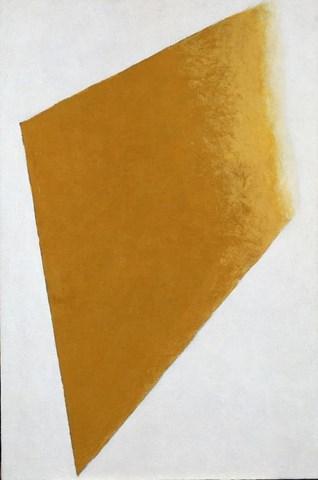 Carreau jaune sur fond blanc, 1917-1918