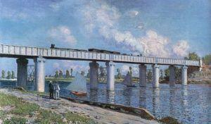 Claude Monet: le pont de chemin de fer à Argenteuil, 1873, Musée d'Orsay