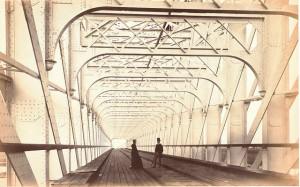 Pont sur le Lek (branche du Rhin) à  Culemborg  1868