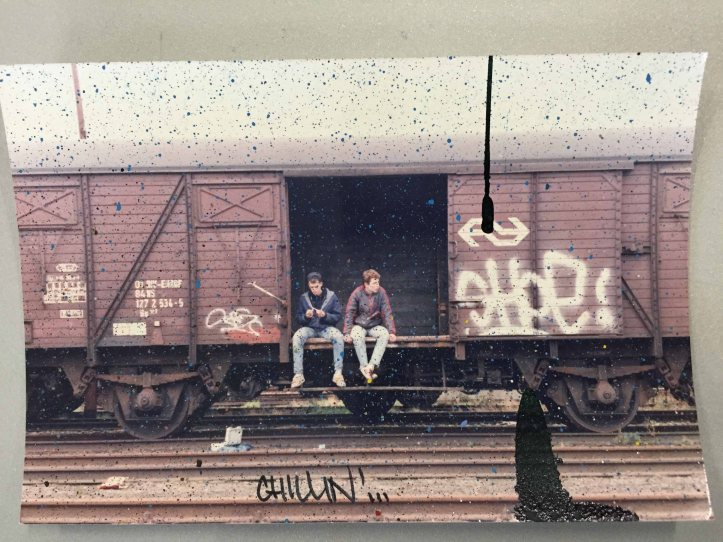 Shoe et Jaz dans le fourgon qu'ils viennent de « taguer »