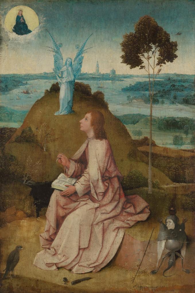 Saint- Jean à Patmos. Berlin, Gemäldegalerie