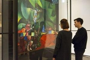 Le « Calvaire » de Chagall dans l'Eglise Nouvelle à Amsterdam. Photo Janiek Dam.