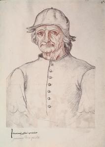Portrait de Bosch (recueil d'Arras 275). Arras, Bibliotheque Municipale.