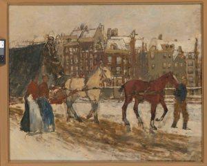 Breitner, le Rokin (1923). Rijksmuseum (bientôt exposé à l'Amsterdam Museum, « Made in Amsterdam »).