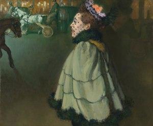 Louis Anquetin, Femme aux Champs-Elysées de nuit, 1890-1891, huile sur toile, Van Gogh Museum, Amsterdam.