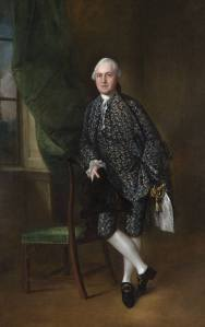 Thomas Gainsborough: Sir Edward Turner, 2d baronet d'Ambrosden, Oxford, 1762 (229 x 147,5 cm). Wolverhampton Arts and Heritage.
