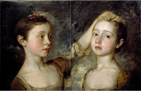 Les deux filles de Thomas Gainsborough, Mary et Margaret (1758)