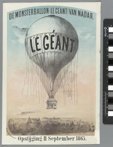 « Le Géant », le « ballon monstre » de Nadar, et son immense nacelle.
