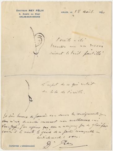 La note et le dessin du Dr Rey.