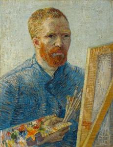 Vincent Van Gogh: « Autoportrait en peintre », 1887-1888.
